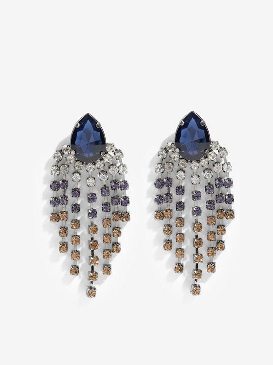 Pendientes largos en tonos azules de Parfois. (7.99 euros).