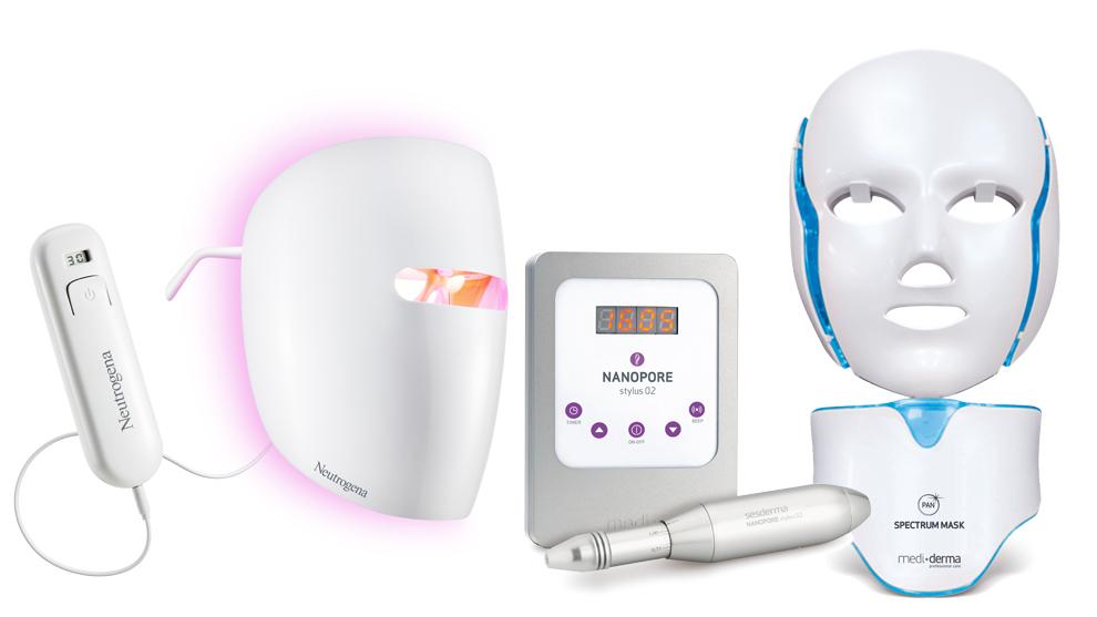 Máscara Visibly Clear de fototerapia antiacné, Neutrogena (59 euros)...