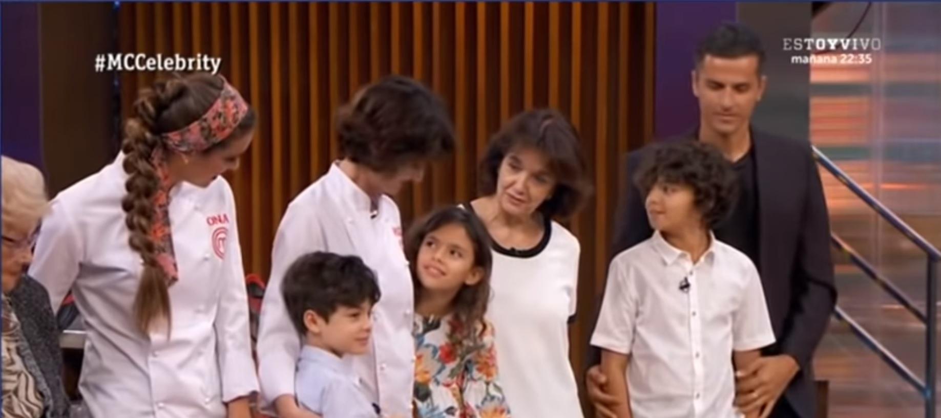 Paz Vega junto a su familia