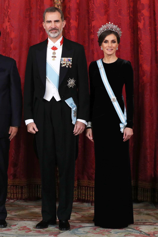 Nuestros reyes aguardando al presidente chino
