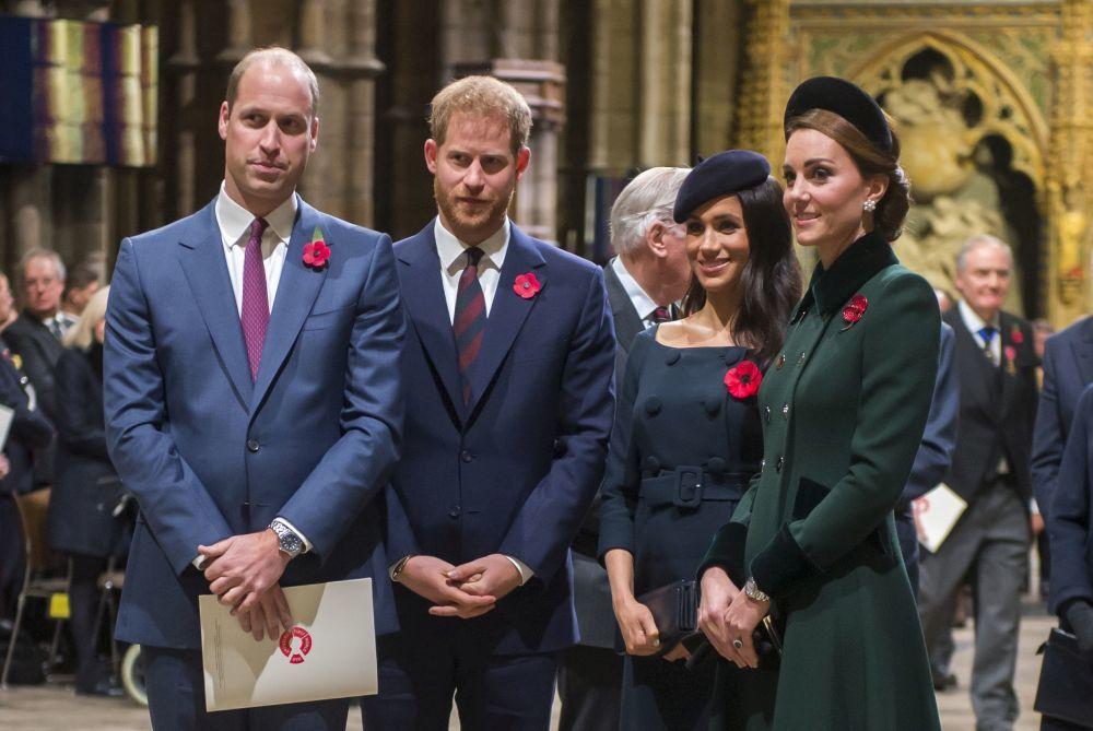 Los Duques de Cambridge y los Duques de Sussex en una de sus últimas...