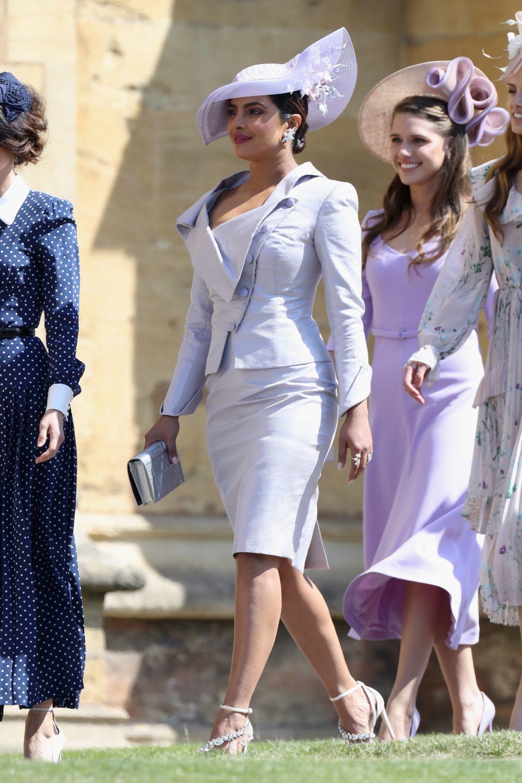 Priyanka Chopra en la boda de Meghan Markle y el príncipe Harry.
