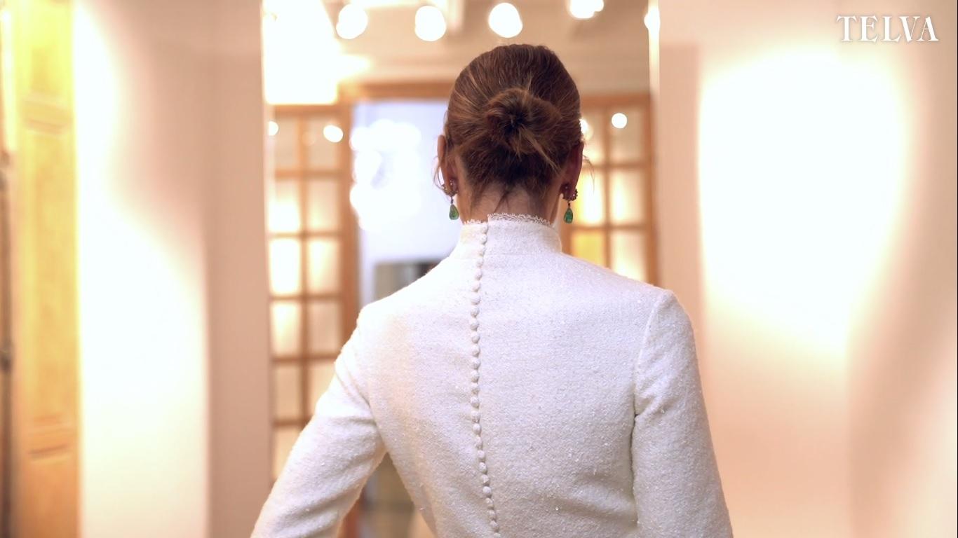 El vestido de novia de Alejandra de Rojas, en vídeo.