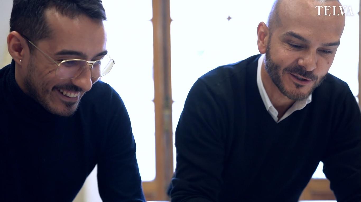 Antonio Burillo y Juan Carlos Fernández en su taller de The 2nd Skin...