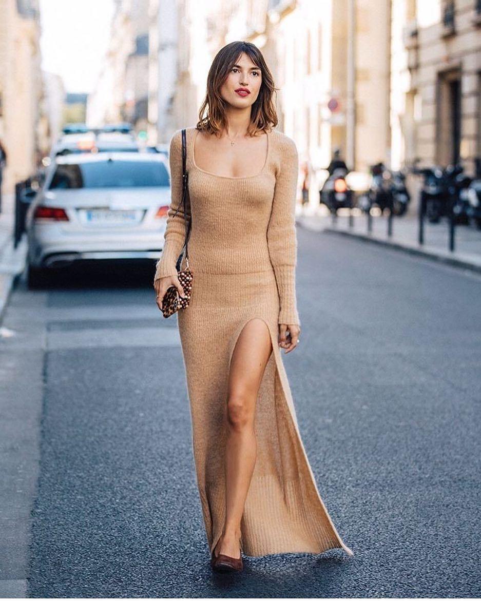 Jeanne Damas con un vestido segunda piel.