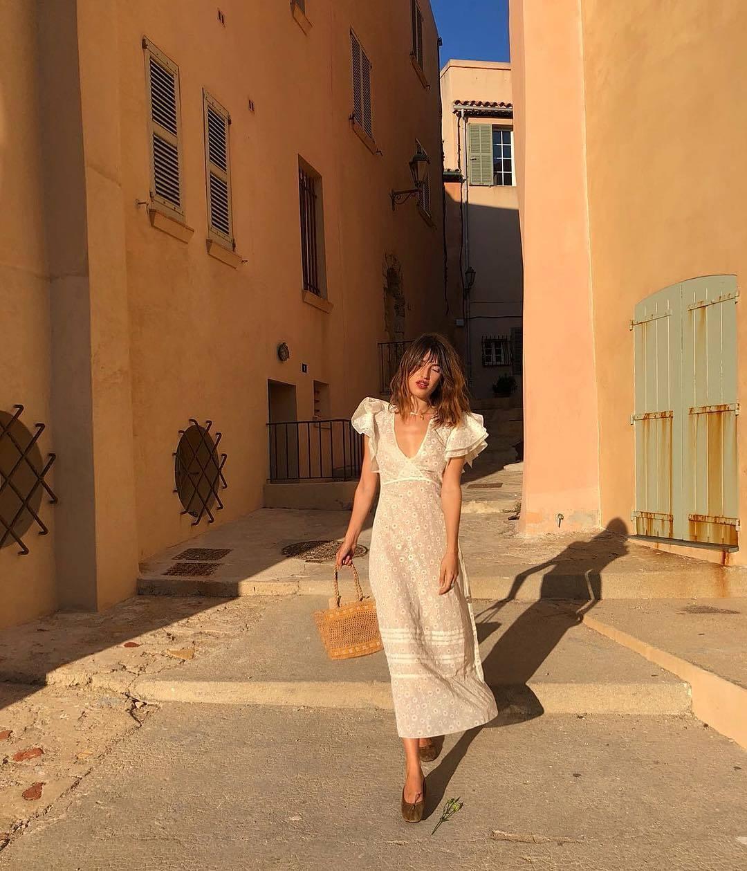 Jeanne Dams con un look de lo más romántico