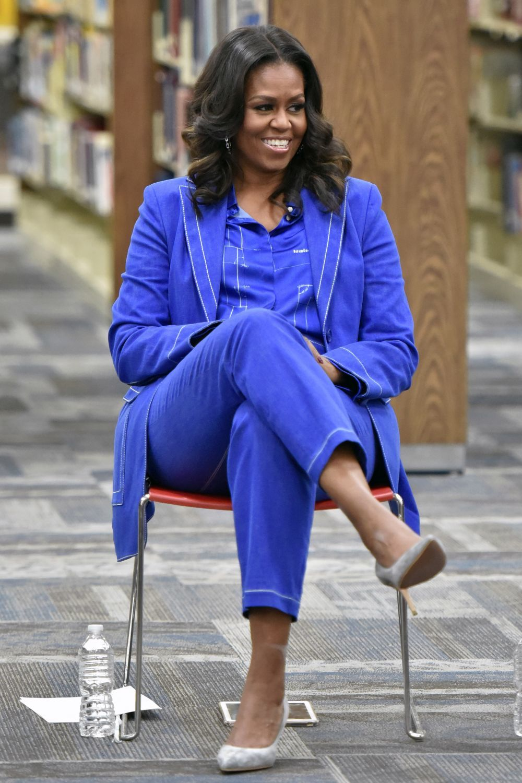 Michelle Obama en uno de los actos de promoción de su libro.