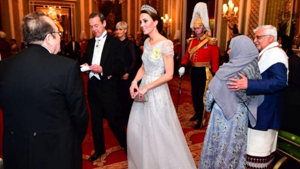 Kate Middleton durante la cena organizada por la reina Isabel II