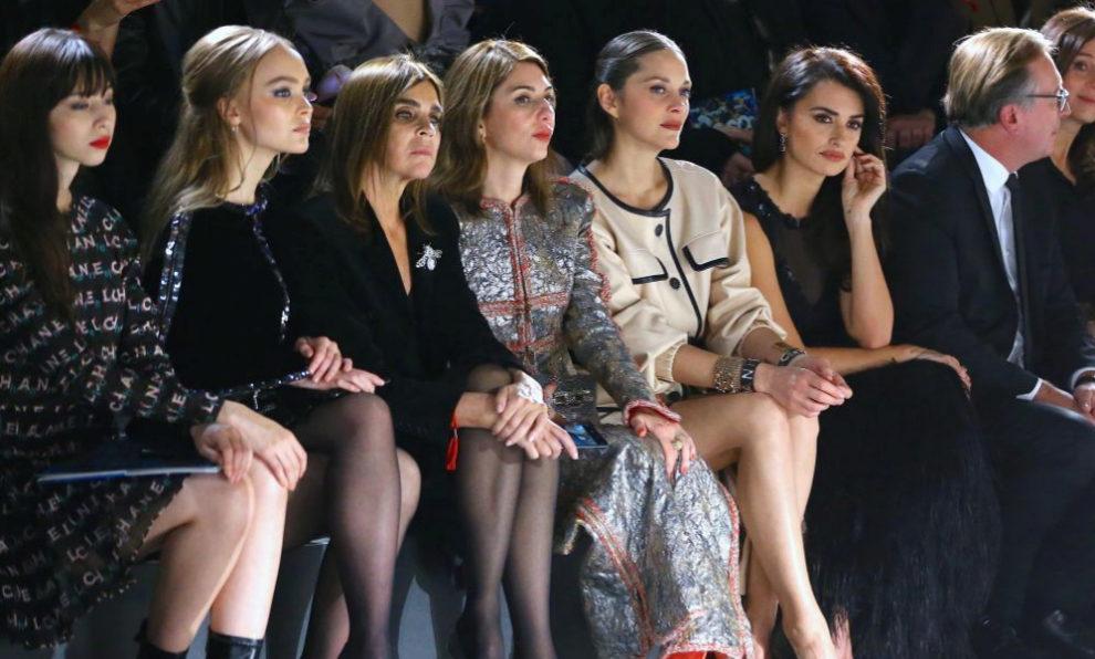 El front row del desfile de Chanel.