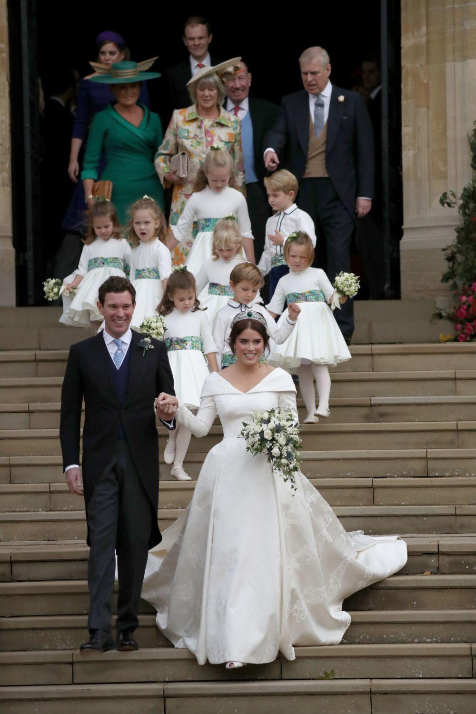 Eugenia de York y Jack Brooksbank el día de su boda.
