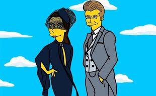 La pareja formada por Victoria y David Bechkam en su versión amarilla
