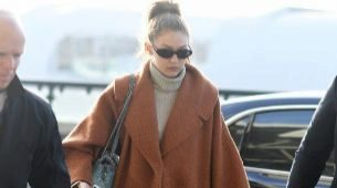 Este es el abrigo del invierno, según Gigi Hadid
