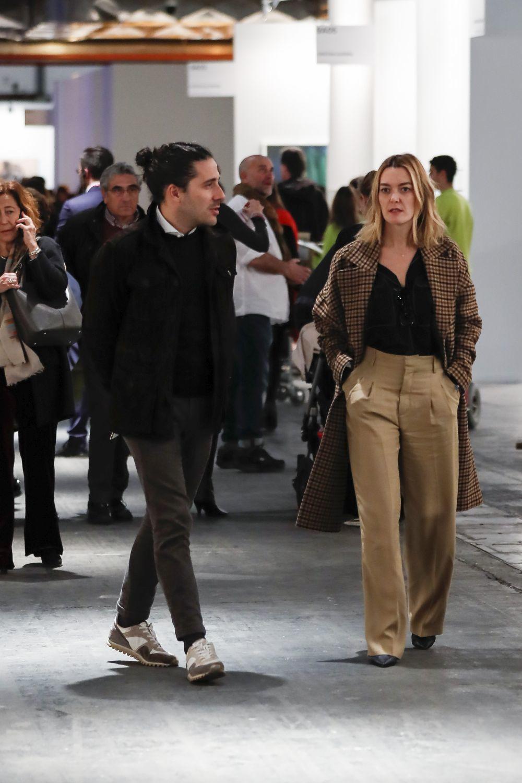 Marta Ortega en la feria ARCO de Madrid completamente vestida de Zara.