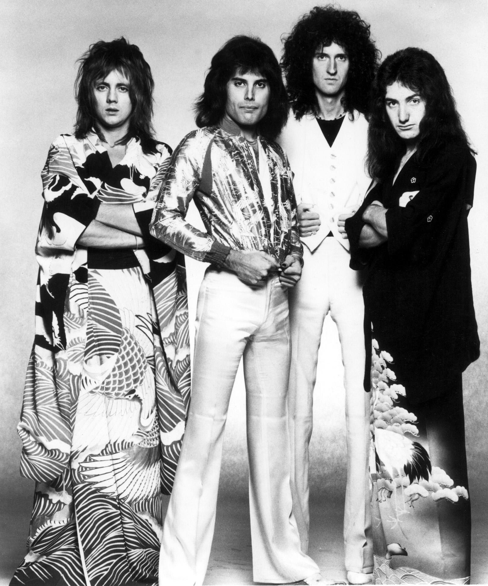 Roger Taylor, John Deacon, Brian May, Freddie Mercury en una imagen de...