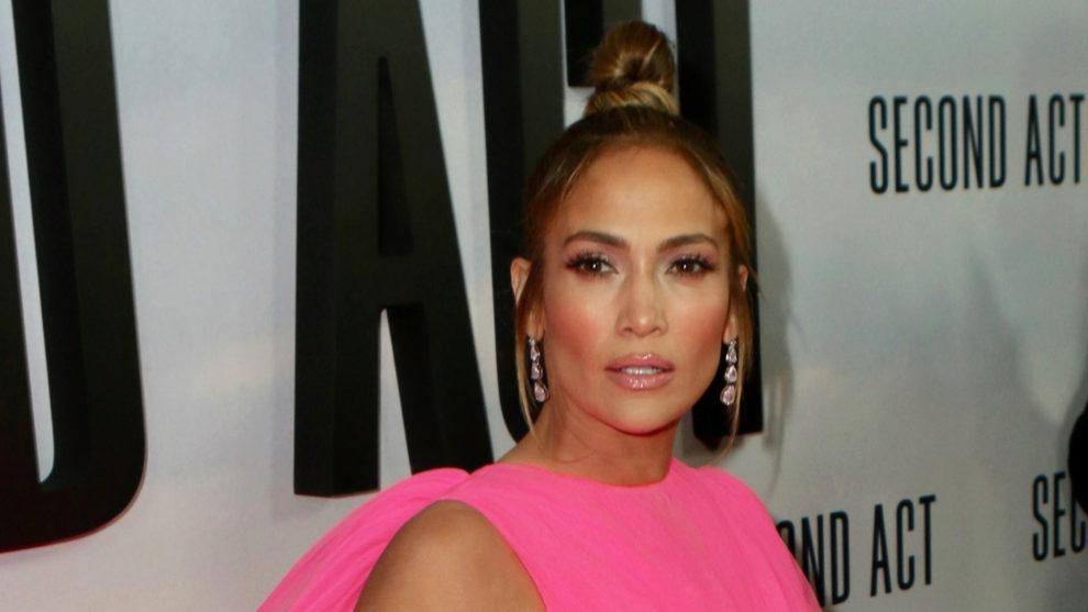 Jennifer Lopez durante la presentación de su última película en...