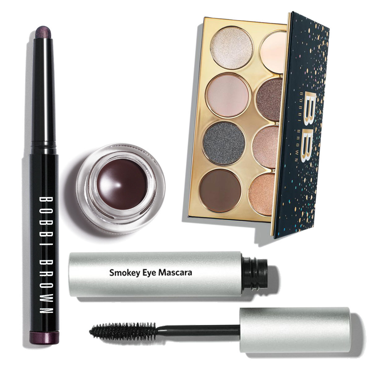 Dusty Mauve Long-Wear Cream Shadow Stick; Long-Wear Gel Eyeliner Black...