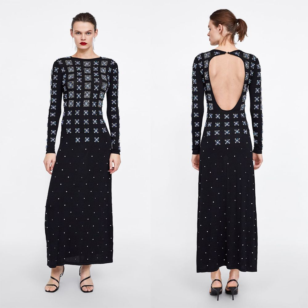 Vestido de Zara, por delante y por detr