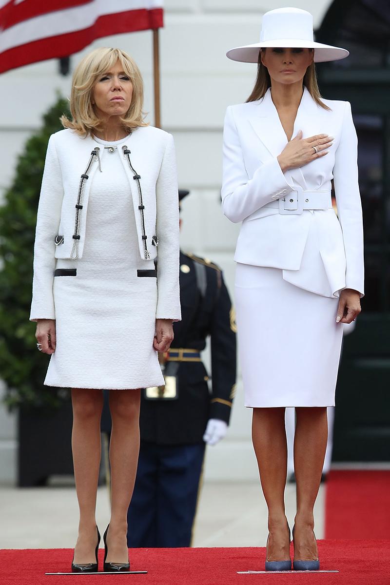 Brigitte Macron y Melania Trump en la Galería de Arte Nacional de...