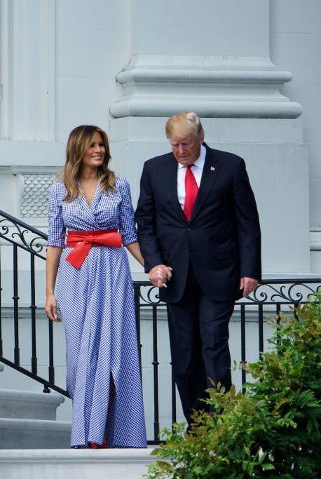 Melania Trump en a fiesta nacional del 4 de julio.