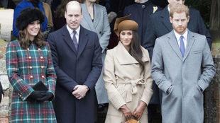 Los duques de Sussex y los de Cambridge en las Navidades de 2017.
