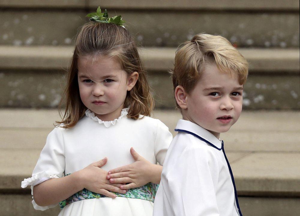 Los hijos de los Duques de Cambridge, George y Charlotte.
