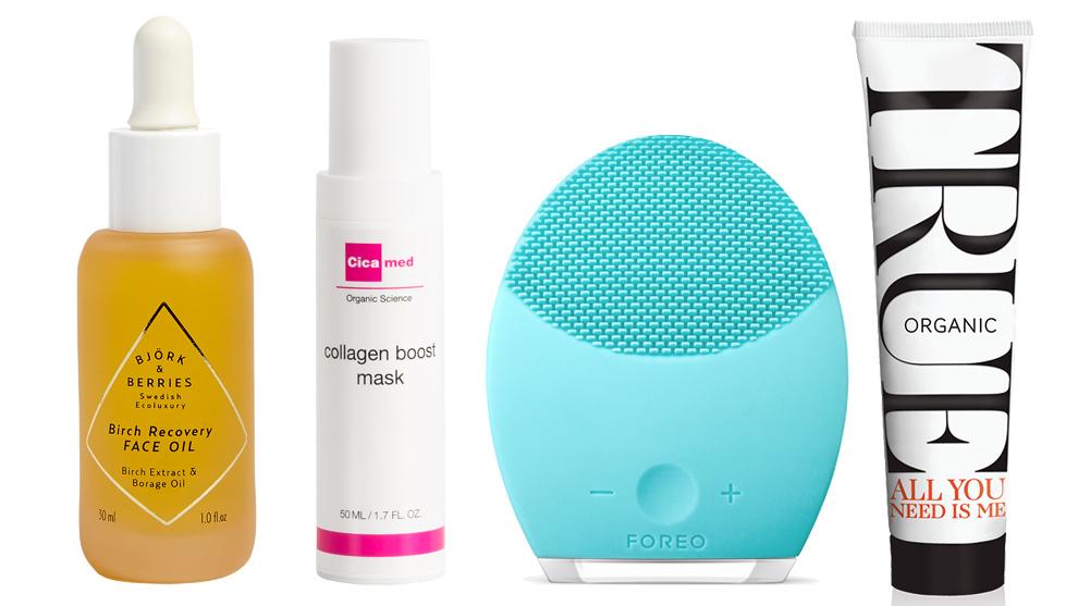 Birch Recovery Face Oil, Björk & Berries (49 euros); Collagen Boost...