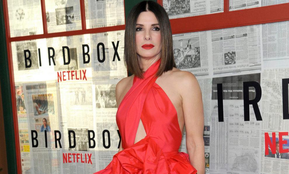 Sandra Bullock en Nueva York en la primere de Bird Box, su última...