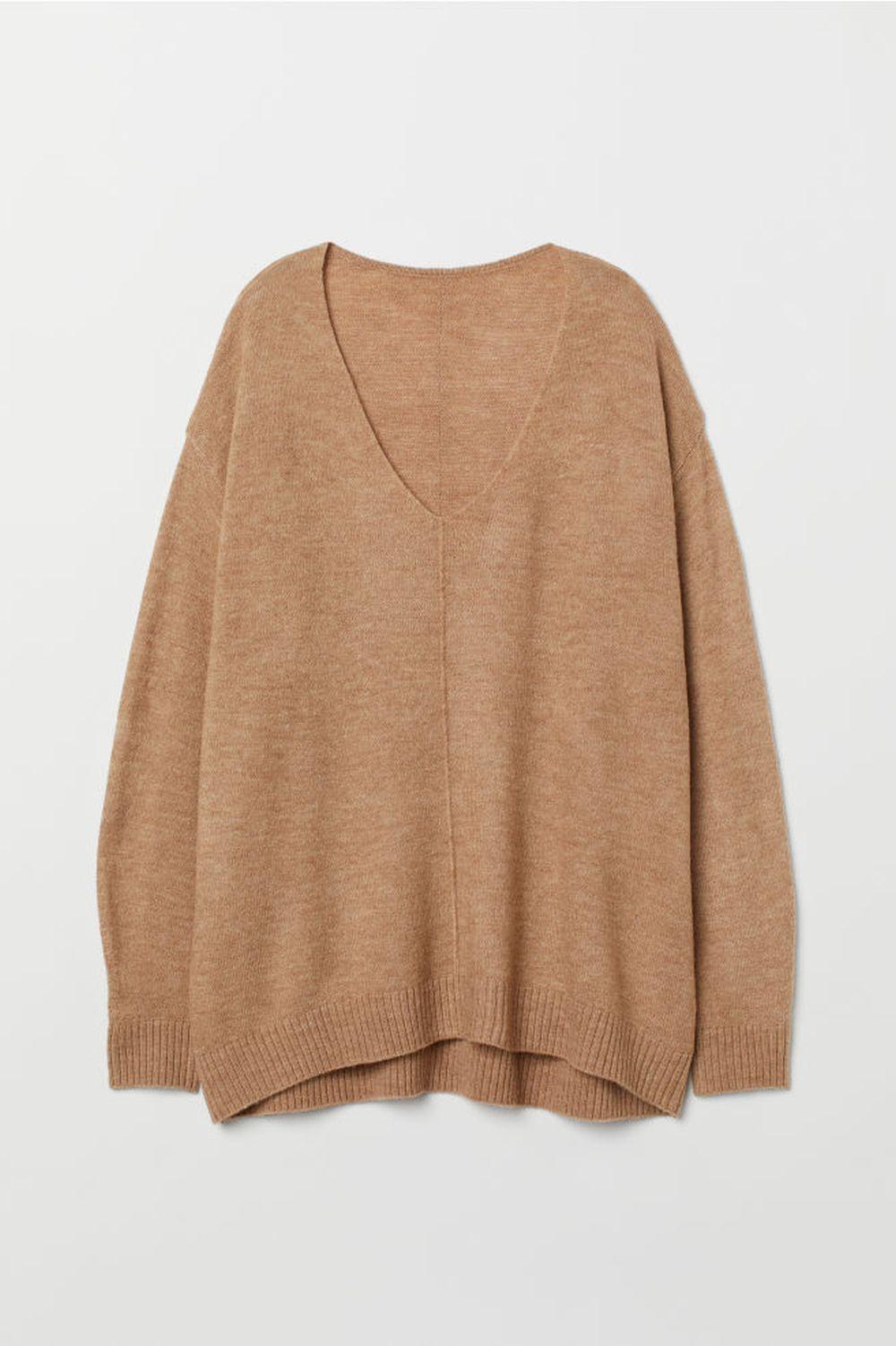 Jersey en punto fino en color beige, de H&M (19,99 euros).