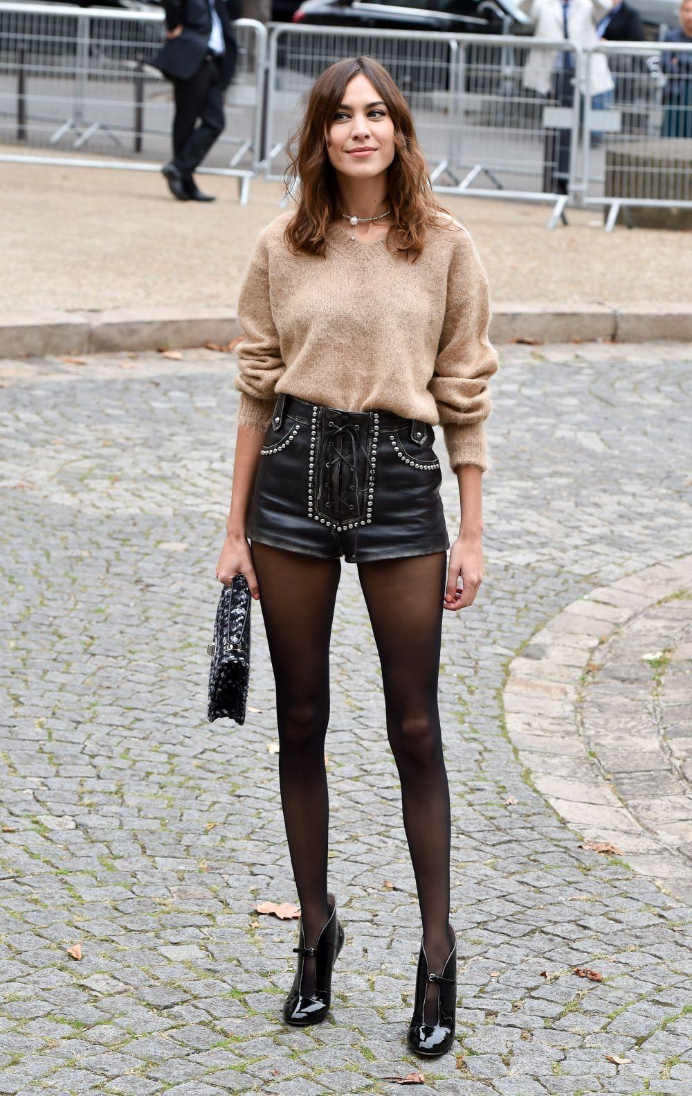 Alexa Chung en la semana de la moda de París