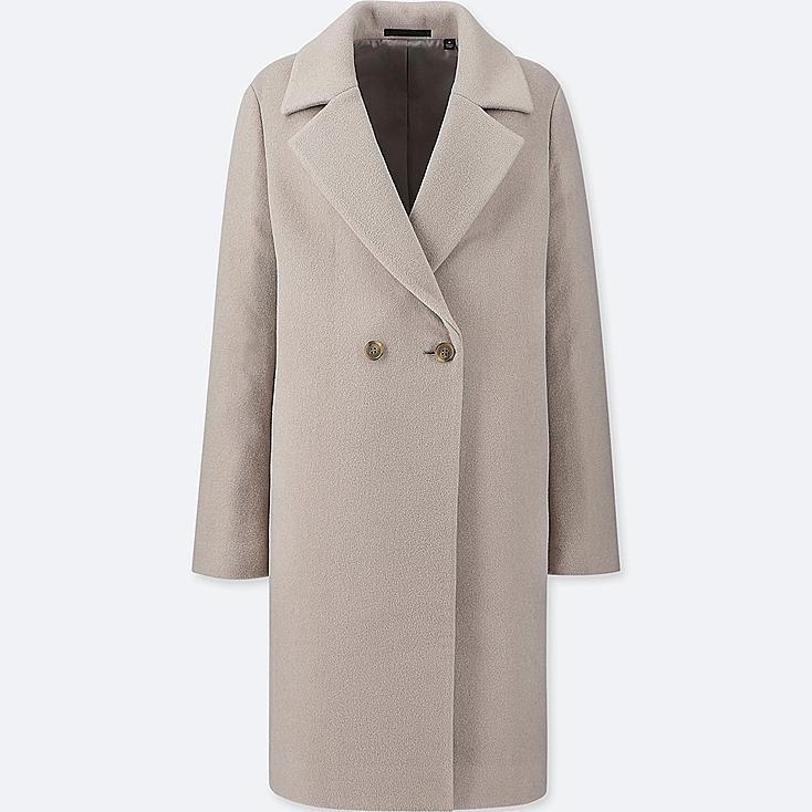Abrigo en gris vigoré de Uniqlo. (79,90 euros).