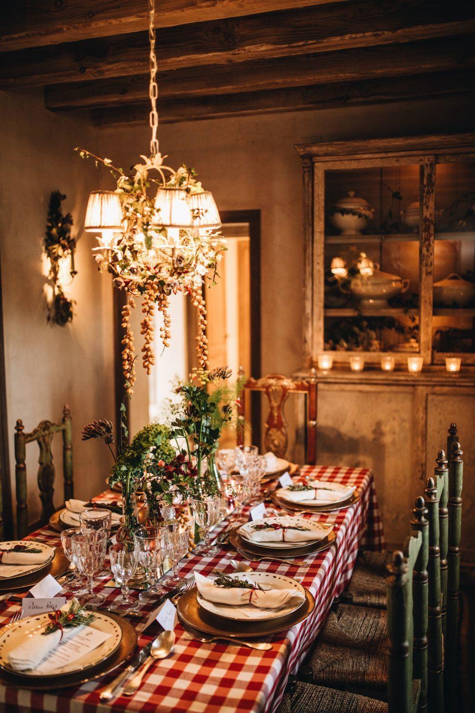 Detalle de la mesa de Navidad de nuestra Navidad en el Campo by Eau de...