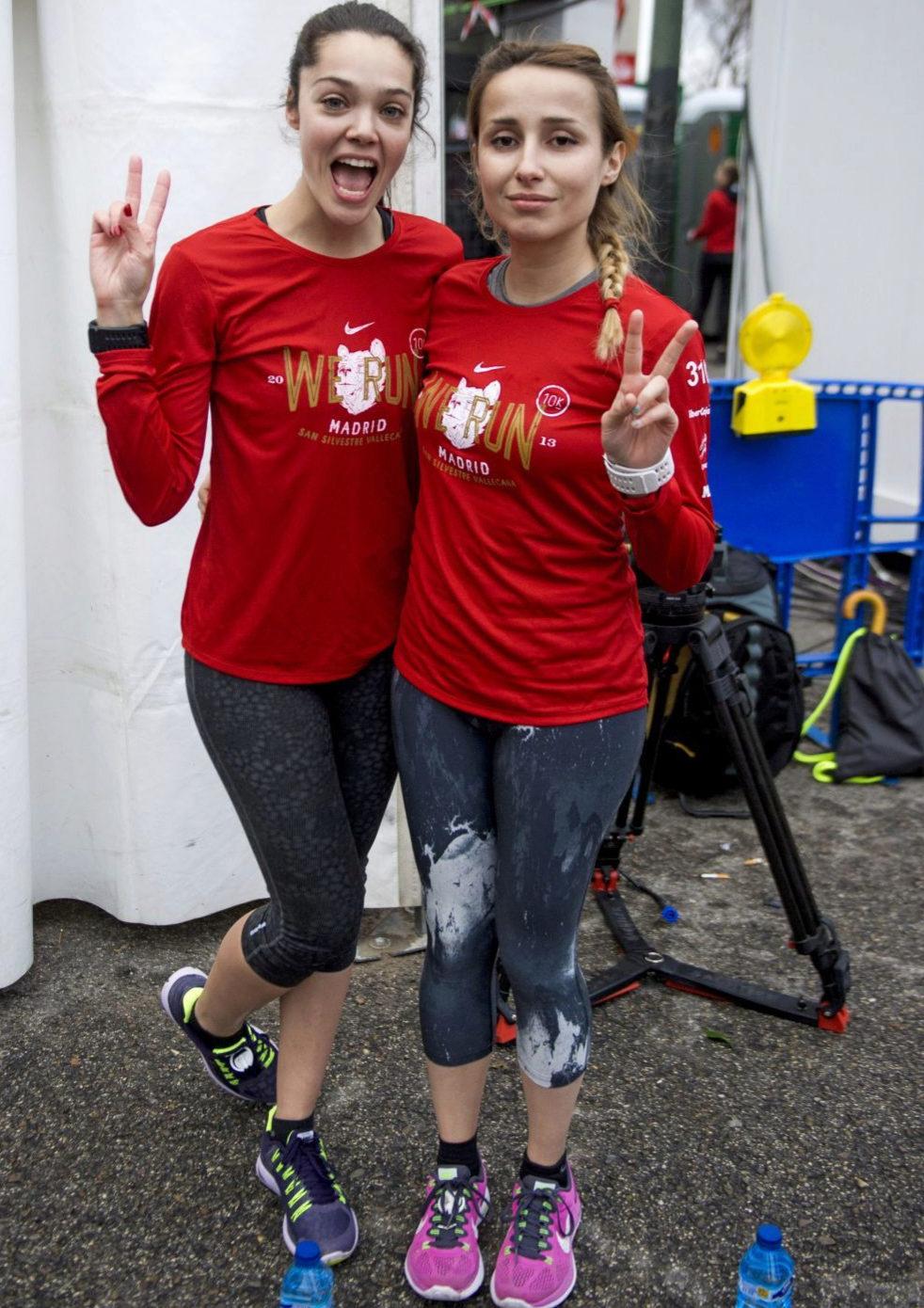 La actriz Ana Rujas y una amiga, dispuestas a correr la San Silvestre.