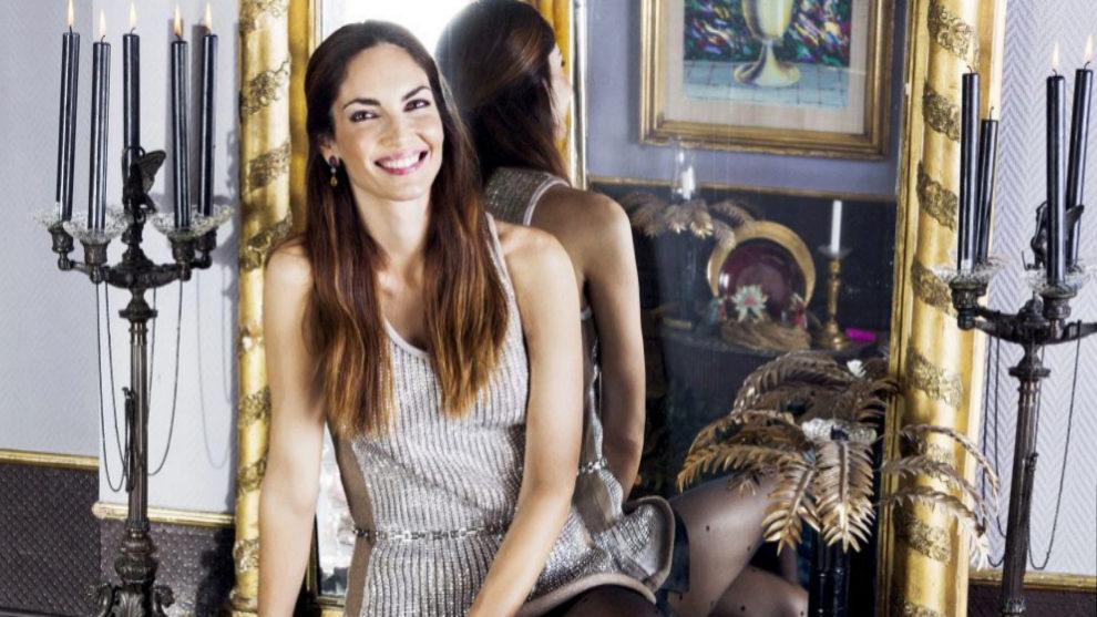 Eugenia Silva con un vestido de fiesta en el especial Navidad de...