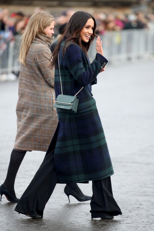 Meghan Markle en su visita al castillo de Edimburgo.