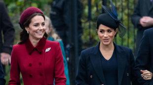 Kate Middleton y Meghan Markle en Sandringham.