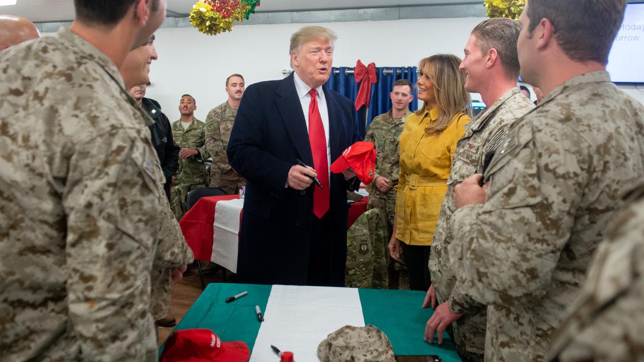 Melania Trump en Irak.