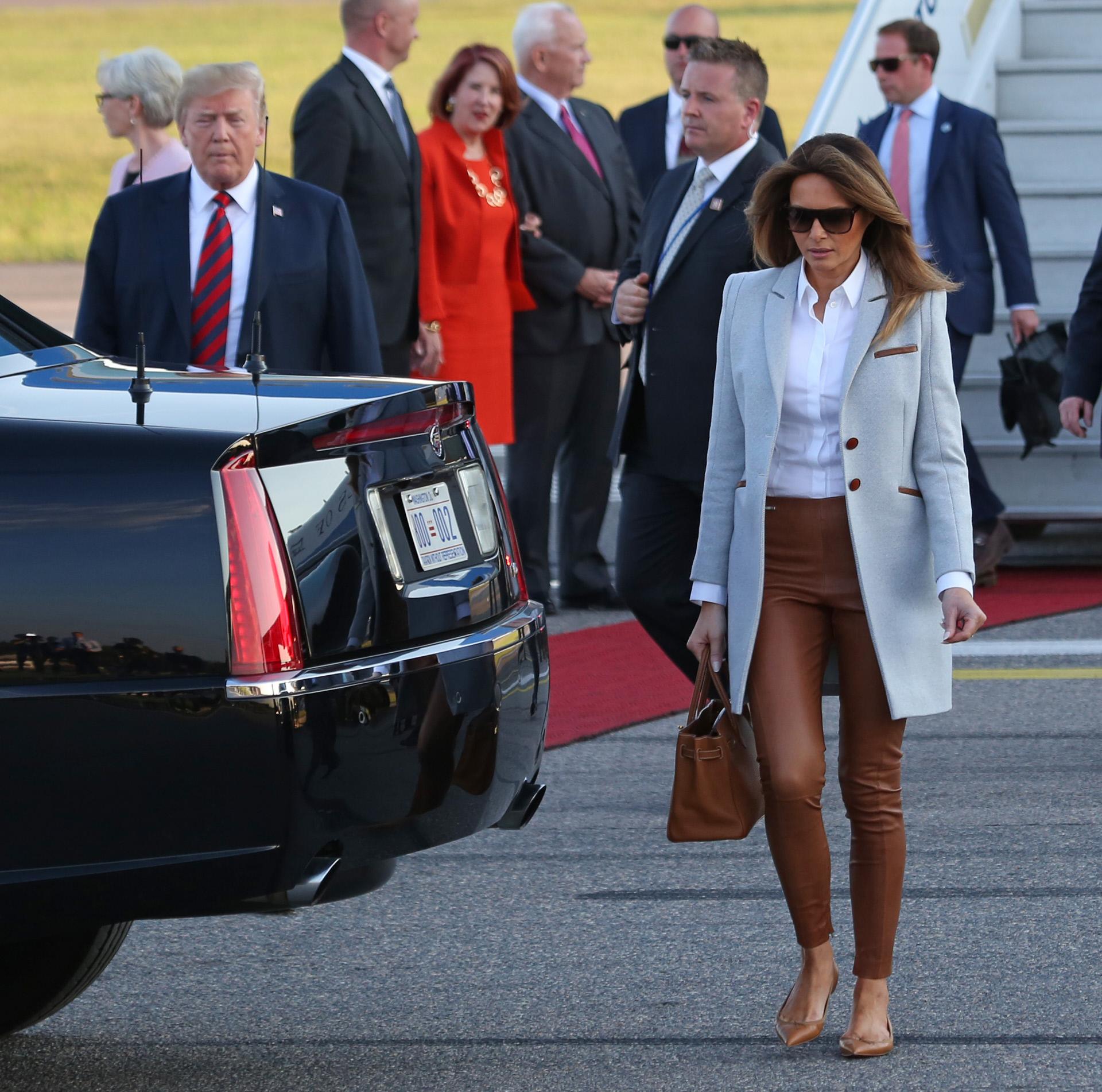 Melania Trump en Helsinki en junio.