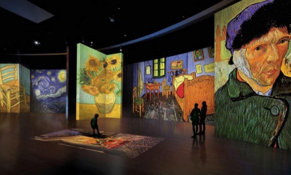 Interior de la exposición Van Gogh Alive.