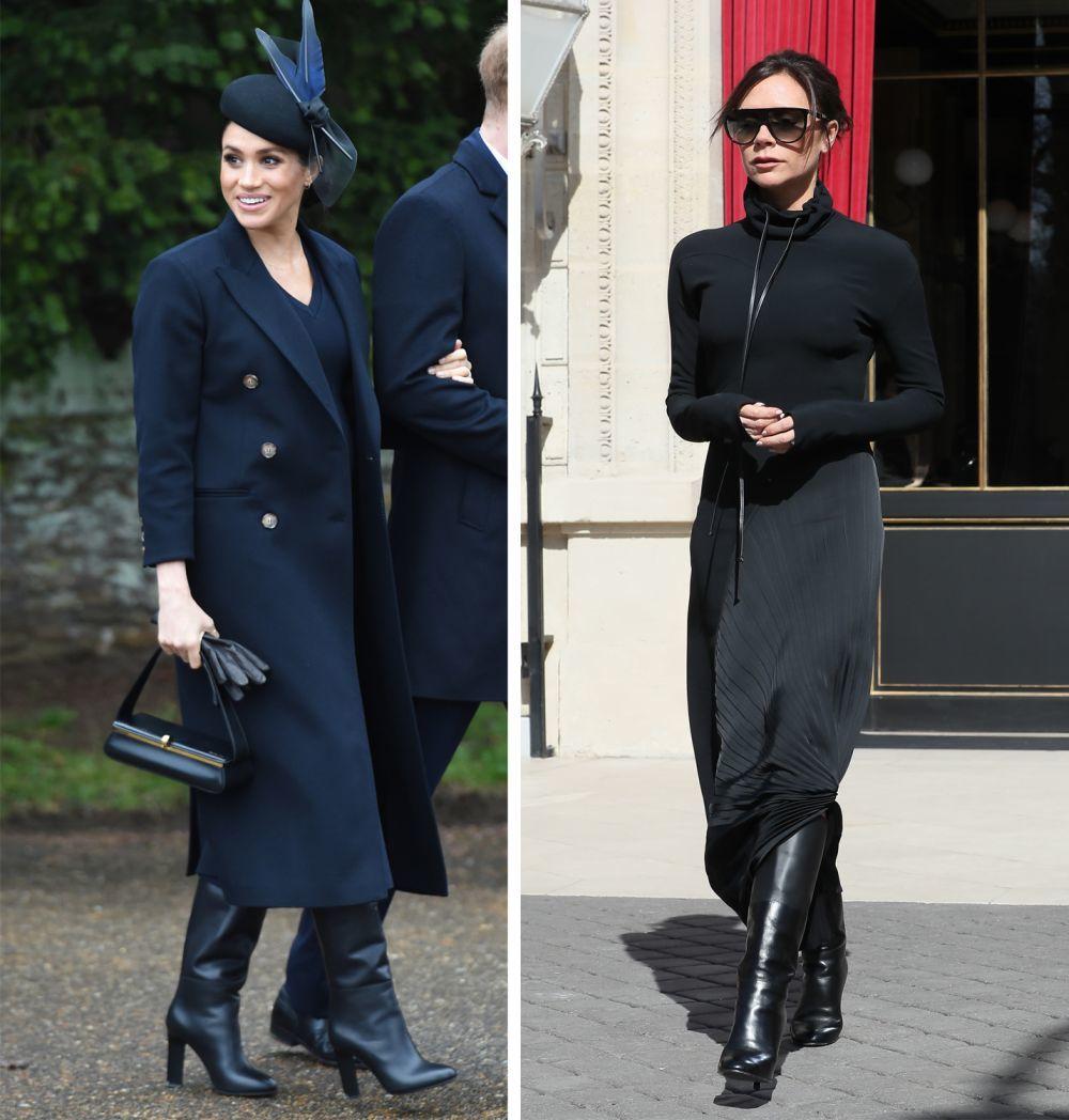 Meghan Markle y Victoria Beckham con botas de piel de la última...