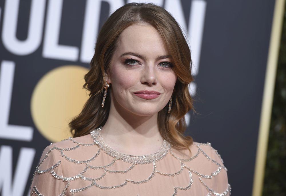 El maquillaje rosa y melocotón de Emma Stone nunca defrauda.