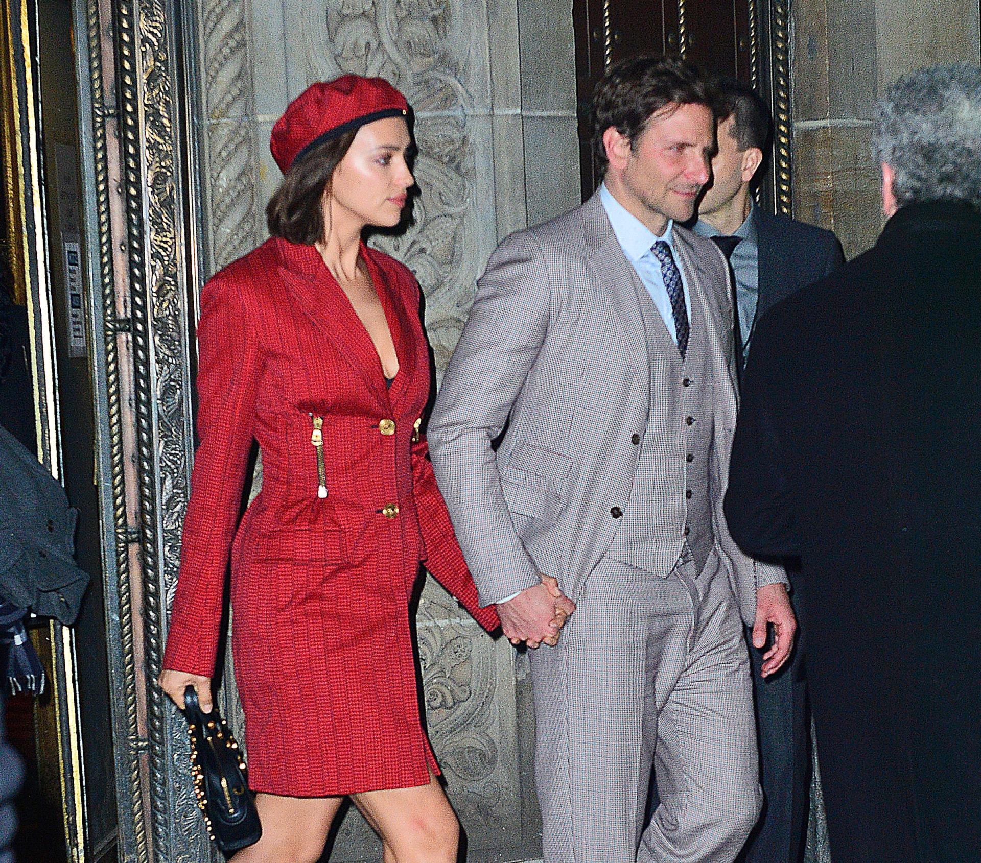 Irina Shayk y Bradley Cooper en Nueva York