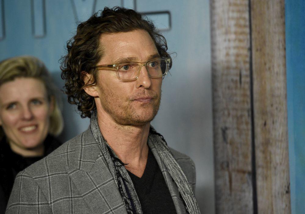 Matthew McConaughey en la premiere en Los Angeles de True Detective.