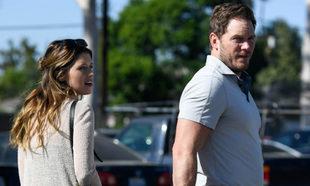 Chris Pratt y su novia, Katherine Schwarzenegger, en Los Angeles.