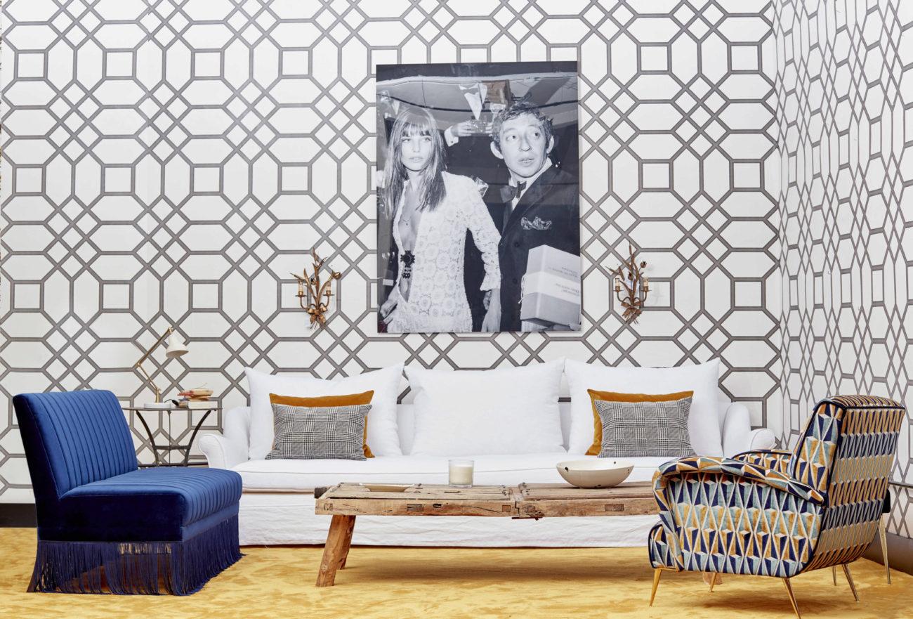 En papeles, baldosas para o el suelo o tejidos, la geometría se...