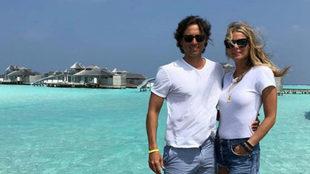 Gwyneth Paltrow y Brad Falchuk  durante su luna de miel en Las...