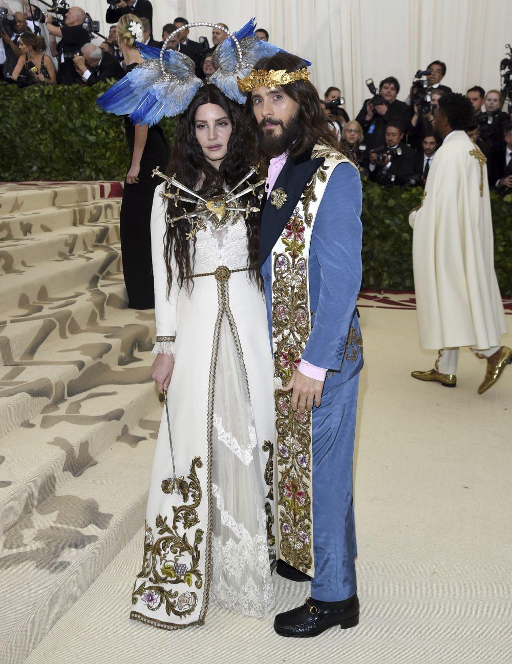 Lana del Rey y Jared Leto en la Gala MET de 2018.
