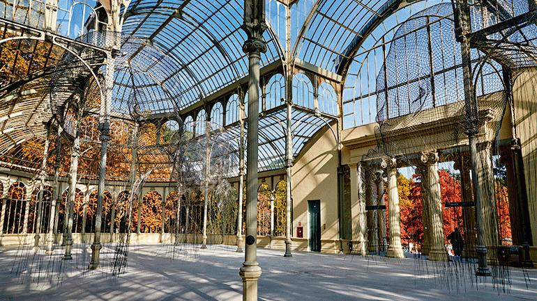 Jaume Plensa en el Palacio de Cristal del Retiro de Madrid.