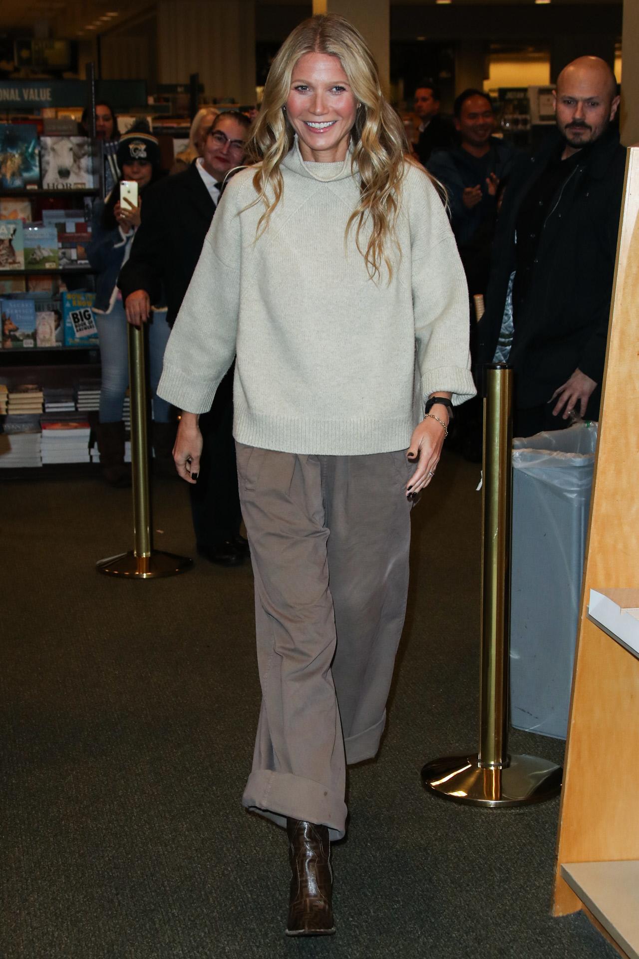 Gwyneth Paltrow en la presentación de su libro
