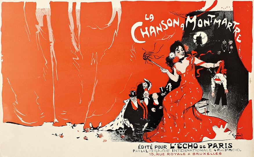 La canción de Montmartre, 1900. Prueba litográfica para...
