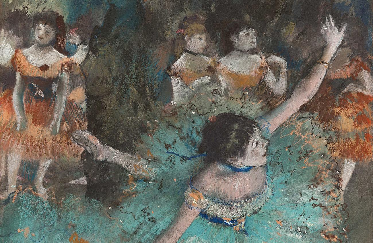 Bailarina basculando (Bailarina verde), 1877-1879. Edgar Degas.